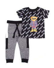 Sets - Crew Neck T-Shirt W/Fashion Jogger 2 PC Set (4-7)-2455077