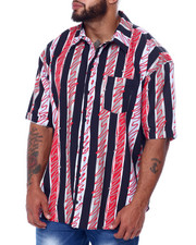 Big & Tall Faves - Stripes S/S Woven (B&T)-2455515