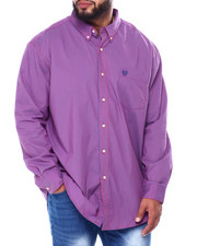 Big & Tall - Stretch Easy Care H-EC Stretch-L/S Sleeve-Sport Shirt (B&T)-2455429