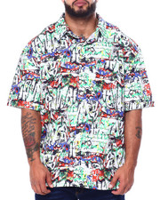 Big & Tall - Graffiti S/S Woven (B&T)-2455585
