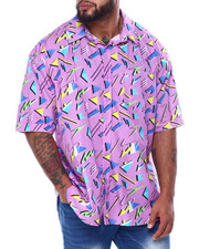 Big & Tall Faves - Geometrics S/S Woven (B&T)-2455545