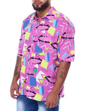 Big & Tall - Geometrics S/S Woven (B&T)-2455555