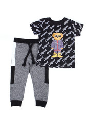 Arcade Styles - Crew Neck T-Shirt W/Fashion Jogger 2 PC Set (2T-4T)-2455094