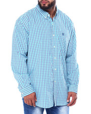 Big & Tall - Stretch Easy Care H-EC Stretch-L/S Sleeve-Sport Shirt (B&T)-2455463