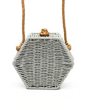 Fashion Lab - Hexagon Straw Crossbody-2453657