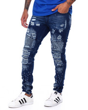 Jeans & Pants - Distressed Moto Jean w Tic Detail-2456211