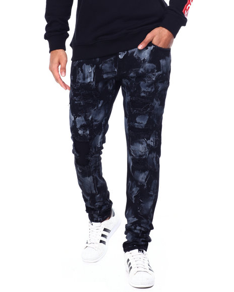 Crysp - Pacific Black Grey Paint Jean