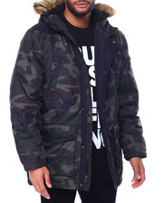 Mens-Winter - Camo Parka w Faux Fur Hood-2455779