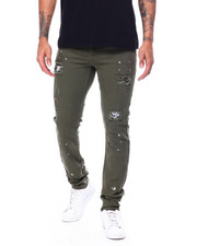 Pants - Ripped Army Pant w Splatter Detail-2455834