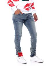 Crysp - Pacific Indigo Red Bandana Jean w Zipper Detail-2456370