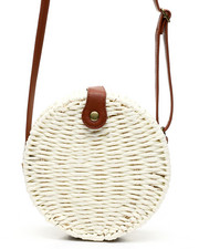 Fashion Lab - Woven Canteen Crossbody W/ PU Trim-2453818