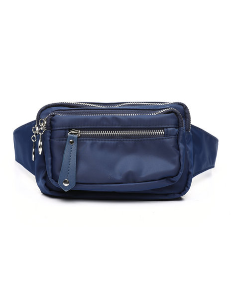 Fashion Lab - Double Zip Nylon Fanny Pack