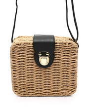 Fashion Lab - Straw Box Crossbody Bag-2453820