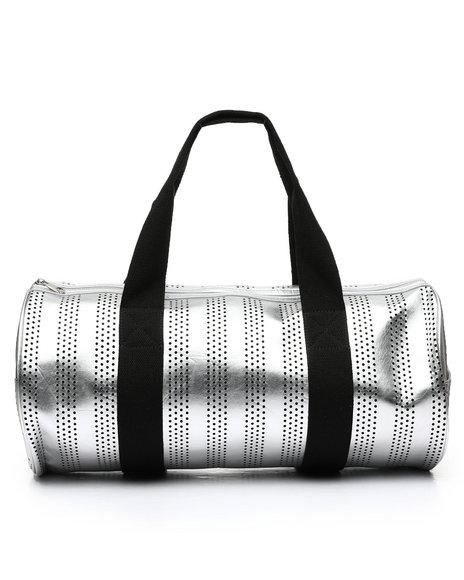 Fashion Lab - Metallic PU Duffle W/ Webbing