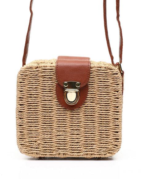 Fashion Lab - Straw Box Crossbody Bag