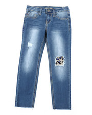 Girls - Leopard Patch Jeans (7-16)-2453368