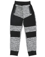 Sweatpants - Melange Color Block Moto Fleece Joggers (8-20)-2454371
