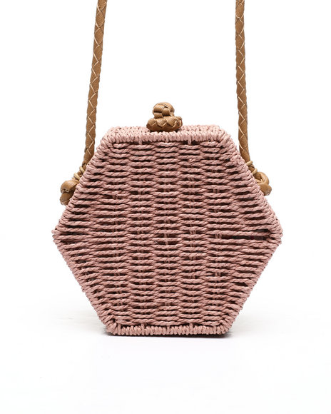 Fashion Lab - Hexagon Straw Crossbody
