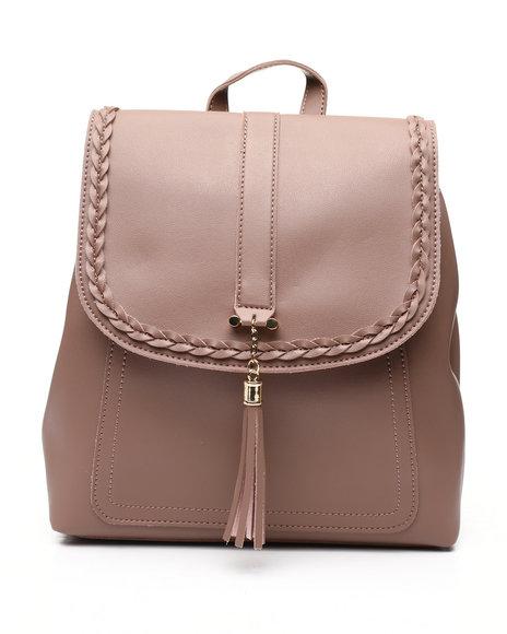 Fashion Lab - Backpack W/ Braid Detail And Tassel