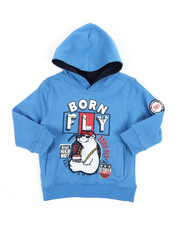 Born Fly - 300 GSM Fleece Hoodie (2T-4T)-2451701