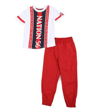 Parish - Graphic Tee & Twill Jogger Pants Set (8-20)-2455419
