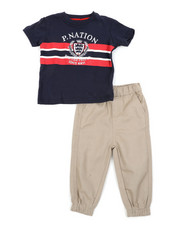 Parish - Graphic Tee & Twill Jogger Pants Set (Infant)-2455377