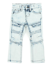Arcade Styles - Acid Wash Moto Jeans (2T-4T)-2454423