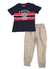 Parish - Graphic Tee & Twill Jogger Pants Set (8-20)-2455388