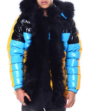 Mens-Winter - PU Coated Puffer Jacket-2457185
