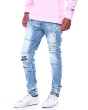 Jeans & Pants - Thigh Zipper Ripped moto repair jean-2457135
