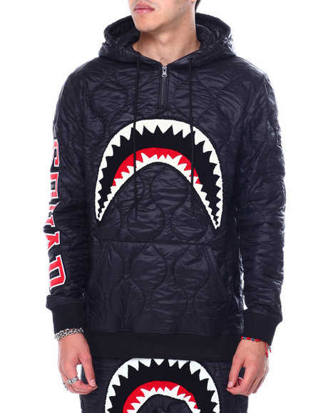 Hudson NYC - QUILTED SHARKMOUTH PULLOVER HOODY