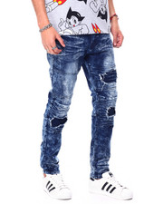 Jeans & Pants - Ripped moto repair jean-2457059