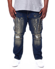 Big & Tall - Makobi Moto Side Biker Jeans (B&T)-2456106