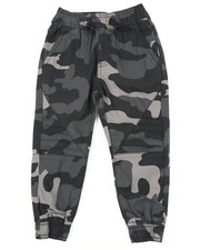 Arcade Styles - Stretch Printed Camo Moto Twill Jogger Pants (2T-4T)-2456636