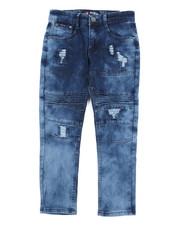 Bottoms - Stretch Cut & Sew Moto Denim Jeans (8-20)-2456573