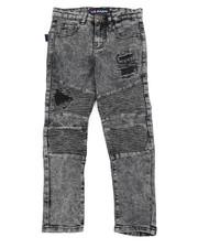 Bottoms - Skinny Rip & Repair Washed Moto Denim Jeans (8-20)-2456543