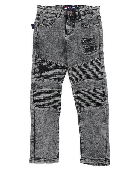 Phat Farm - Skinny Rip & Repair Washed Moto Denim Jeans (8-20)