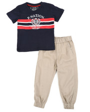 Parish - Graphic Tee & Twill Jogger Pants Set (2T-4T)-2455373