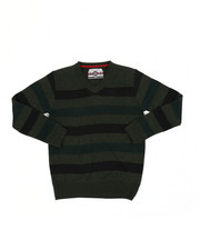 Sweatshirts & Sweaters - Multi Color Stripe V-Neck Sweater (8-18)-2455286