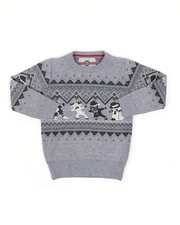Sweatshirts & Sweaters - Fair Isle Dabbing Christmas Sweater (4-7)-2454938