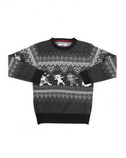 Sweatshirts & Sweaters - Fair Isle Dabbing Christmas Sweater (8-18)-2455358