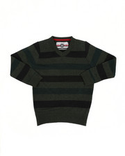Sweatshirts & Sweaters - Multi Color Stripe V-Neck Sweater (4-7)-2455053