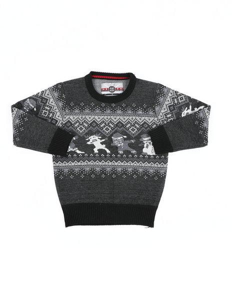 Arcade Styles - Fair Isle Dabbing Christmas Sweater (4-7)