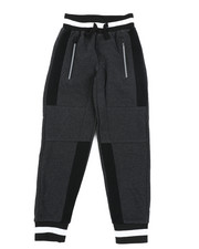 Sweatpants - Color Block Cut & Sew Fleece Joggers (8-20)-2456051