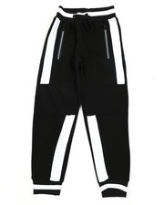 Sweatpants - Color Block Cut & Sew Fleece Joggers (8-20)-2456043