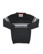 Sweatshirts & Sweaters - Striped Color Blocked V-Neck Sweater (4-7)-2455343