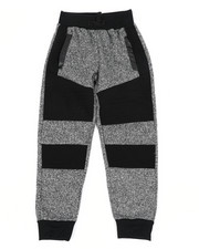 Sweatpants - Melange Color Block Moto Fleece Joggers (8-20)-2456060
