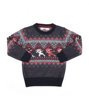 Sweatshirts & Sweaters - Fair Isle Dabbing Christmas Sweater (4-7)-2454913