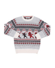 Sweatshirts & Sweaters - Fair Isle Dabbing Christmas Sweater (8-18)-2454948