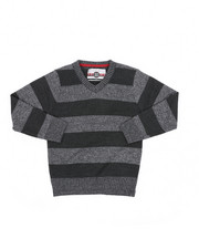 Sweatshirts & Sweaters - Rugby Striped V-Neck Marled Sweater (4-7)-2455291